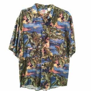Hilo Hattie Mens Medium Tropical Men's Button Down